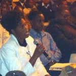 Members of the gallery comment on lectures given by Commissioner Ndabeni-Ncube and Mr. Shastry Njeru at the Transitional Justice Public lecture held on 31 may 2012 in Bulawayo