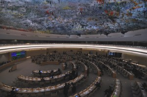 This is a photo of the United Nations Human Rights Council chambers.